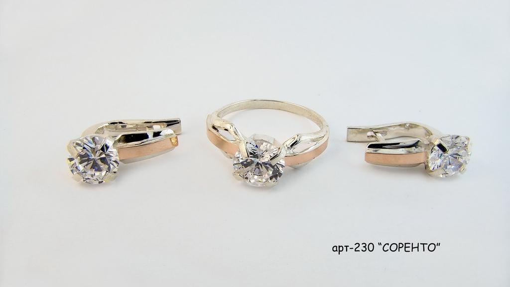Изделия из серебра с напайкой золота по оптовой цене APT-230